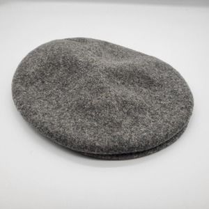 Kangol Designs Gray Wool Flat Hat, sz L